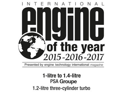 Engine Of The Year 2015 2016 2017 1L to 1.4L Logo