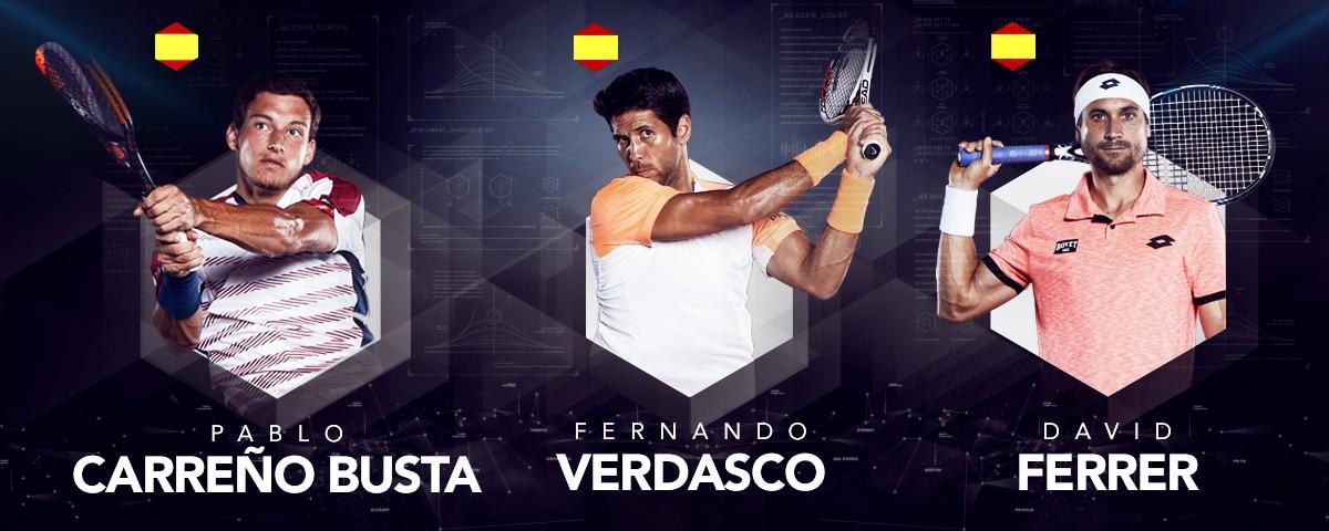 Pablo Carreno busta, Fernando Verdasco & David Ferrer