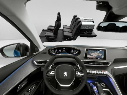 PEUGEOT 5008 SUV boot modularity VR