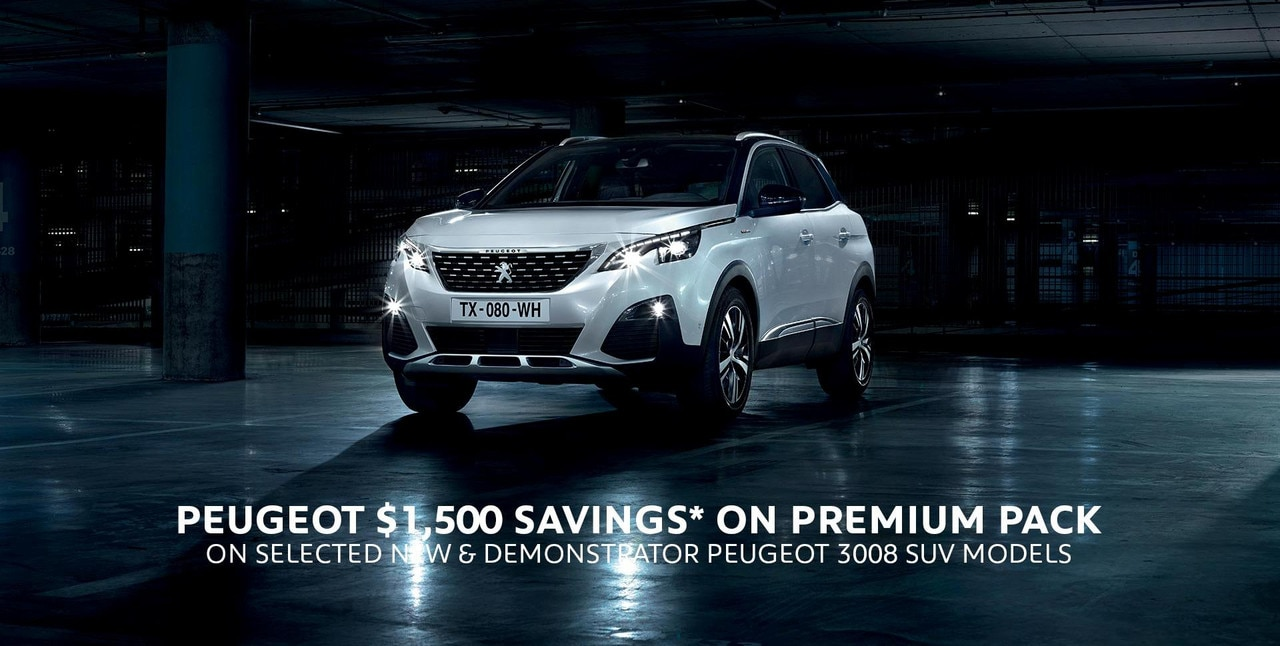 PEUGEOT 3008 SUV Premium Pack Savings Offer
