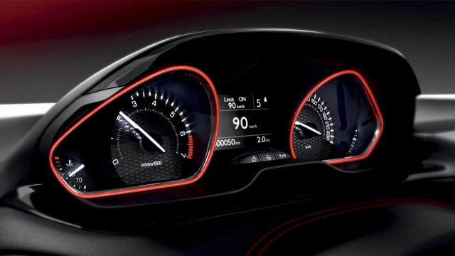 PEUGEOT 208 GTi head up instrument panel