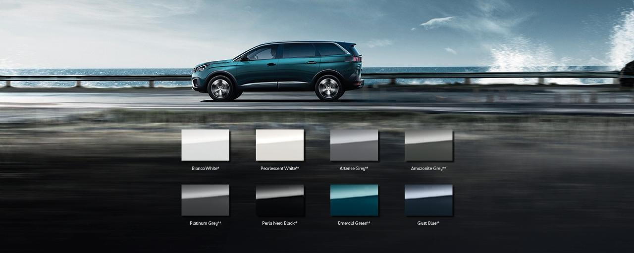 PEUGEOT 5008 SUV colours