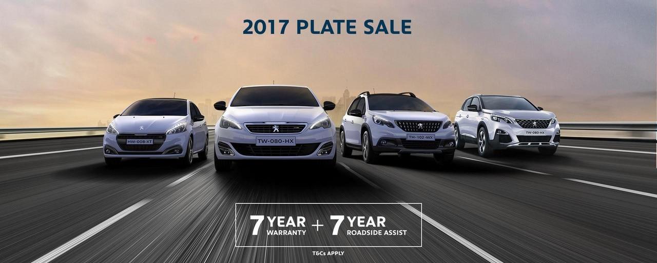 PEUGEOT 2017 Plate Sale