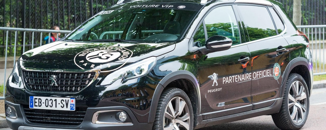 Partnership with Roland-Garros - Peugeot vehicles, official partners of Roland-Garros