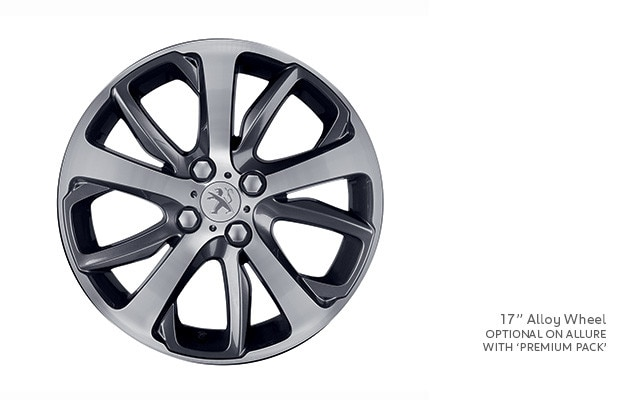 PEUGEOT 208 17-inch optional alloy wheel
