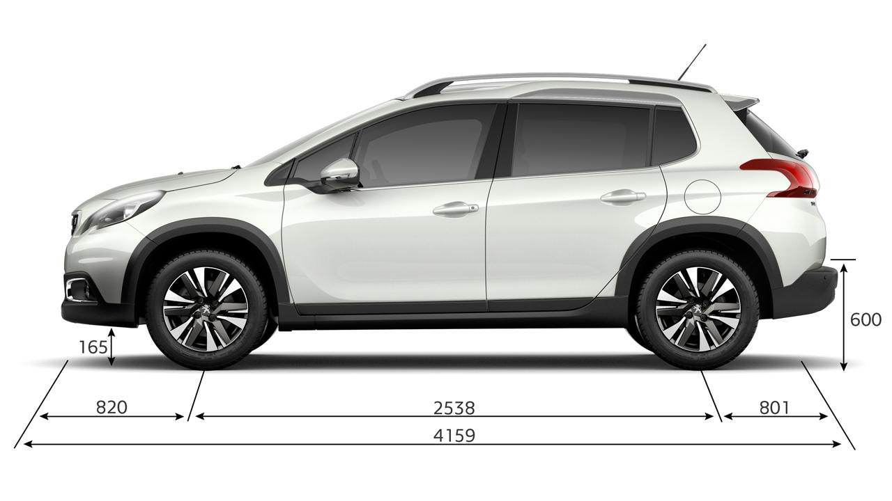 Peugeot 2008 SUV dimensions