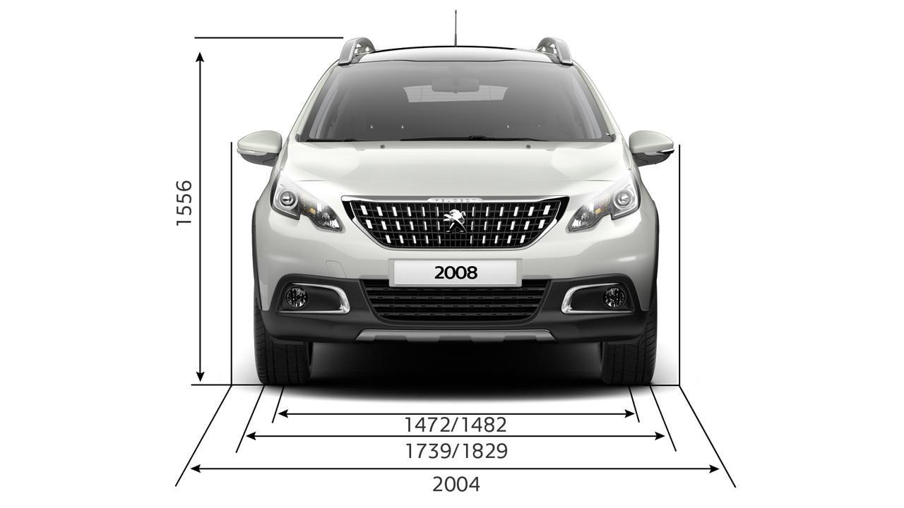 Peugeot 2008 SUV dimensions