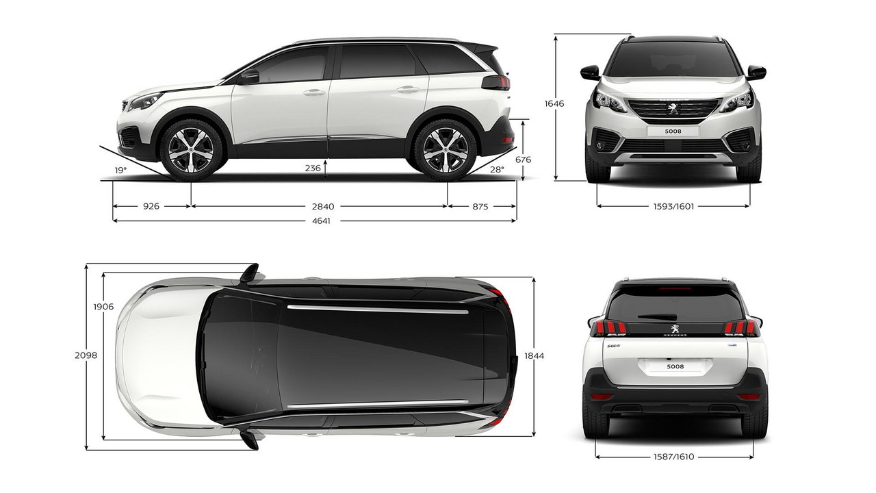 peugeot 5008 new car showroom 7 seat suv technical information