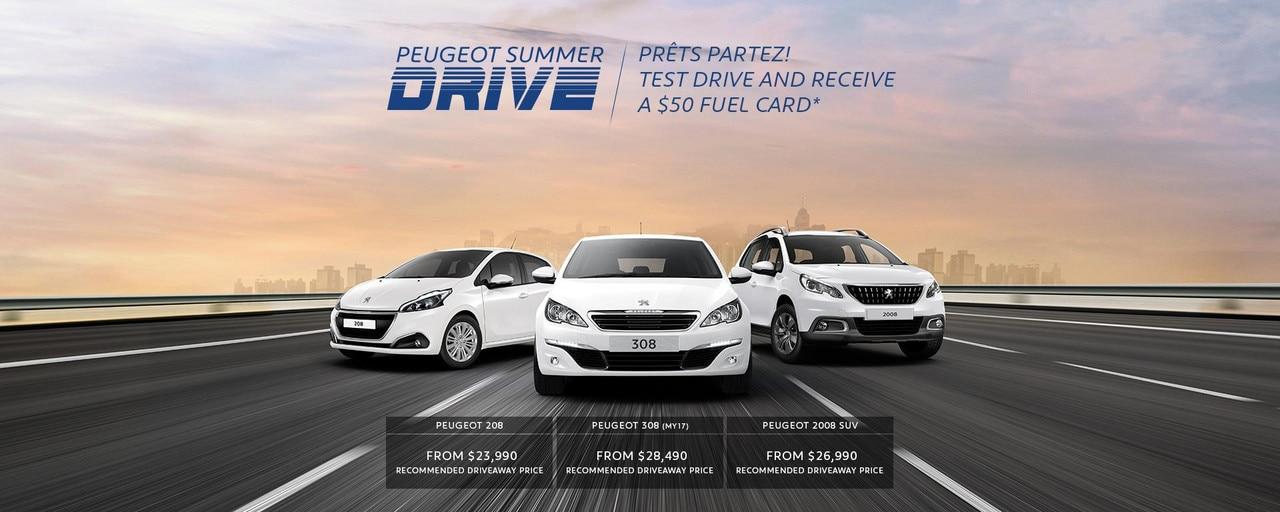 PEUGEOT Summer Drive Test Drive Offer