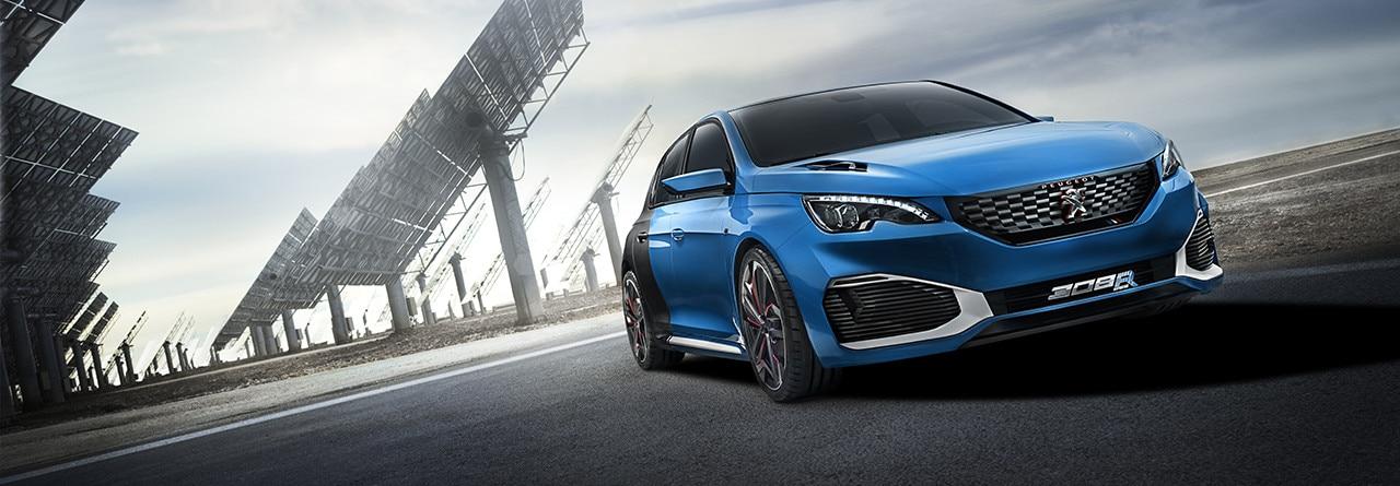 peugeot 308 r hybrid concept car   future car technology