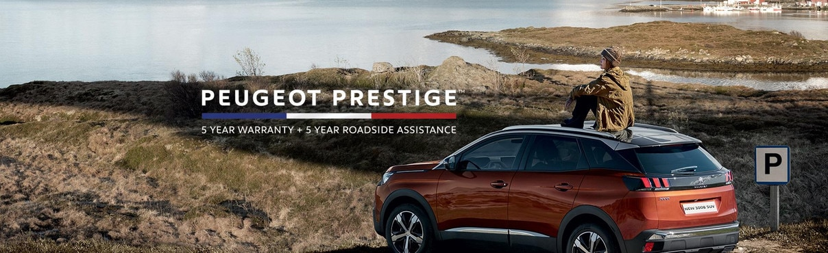 PEUGEOT Prestige 5 year warranty and roadside assist