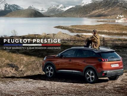 PEUGEOT Prestige 5 year warranty and roadside assist
