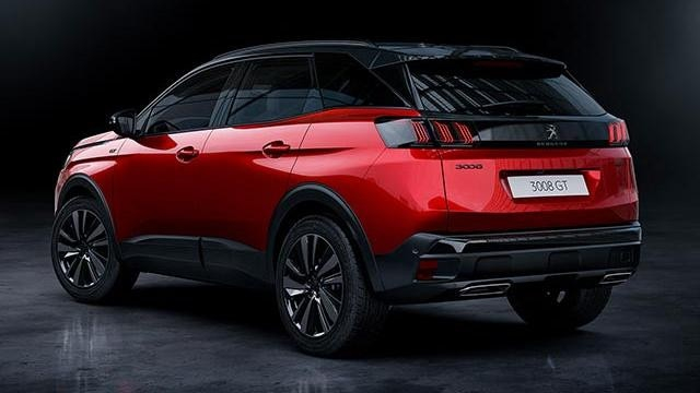 New PEUGEOT 3008 SUV HYBRID4 Design | Black Pack Rear