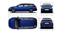PEUGEOT 308 Touring exterior dimensions