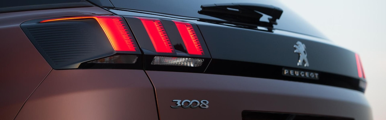 PEUGEOT 3008 SUV style rear lights