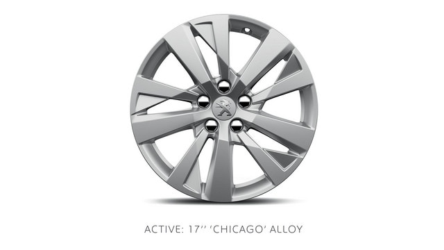 PEUGEOT 3008 SUV Active 17-in alloy wheels