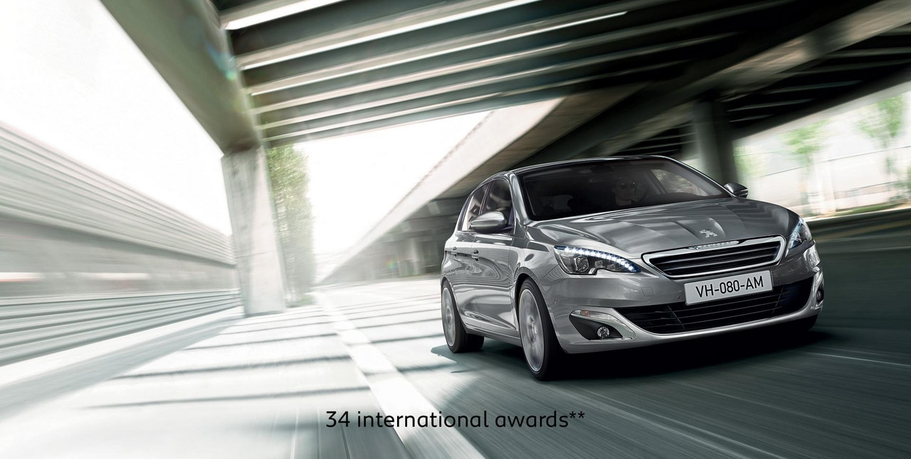 PEUGEOT 308 hatch with 34 international awards