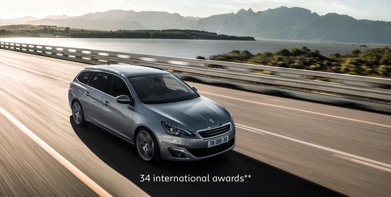 PEUGEOT 308 Touring wagon with 34 international awards