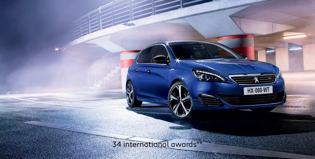 PEUGEOT 308 GT with 34 international awards