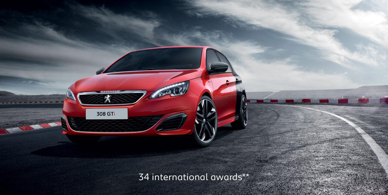 PEUGEOT 308 GTi hot hatch with 34 international awards