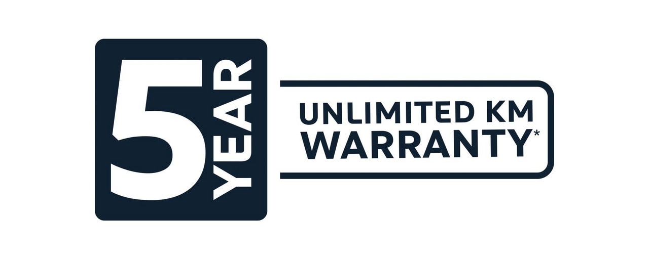 PEUGEOT 5 year unlimited km warranty