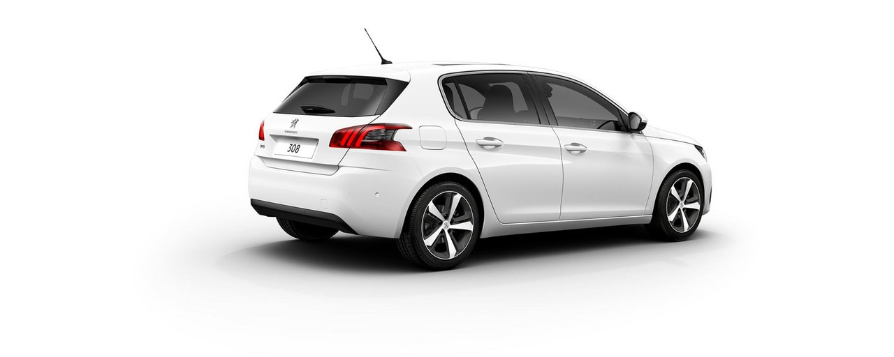 PEUGEOT 308 Allure white rear