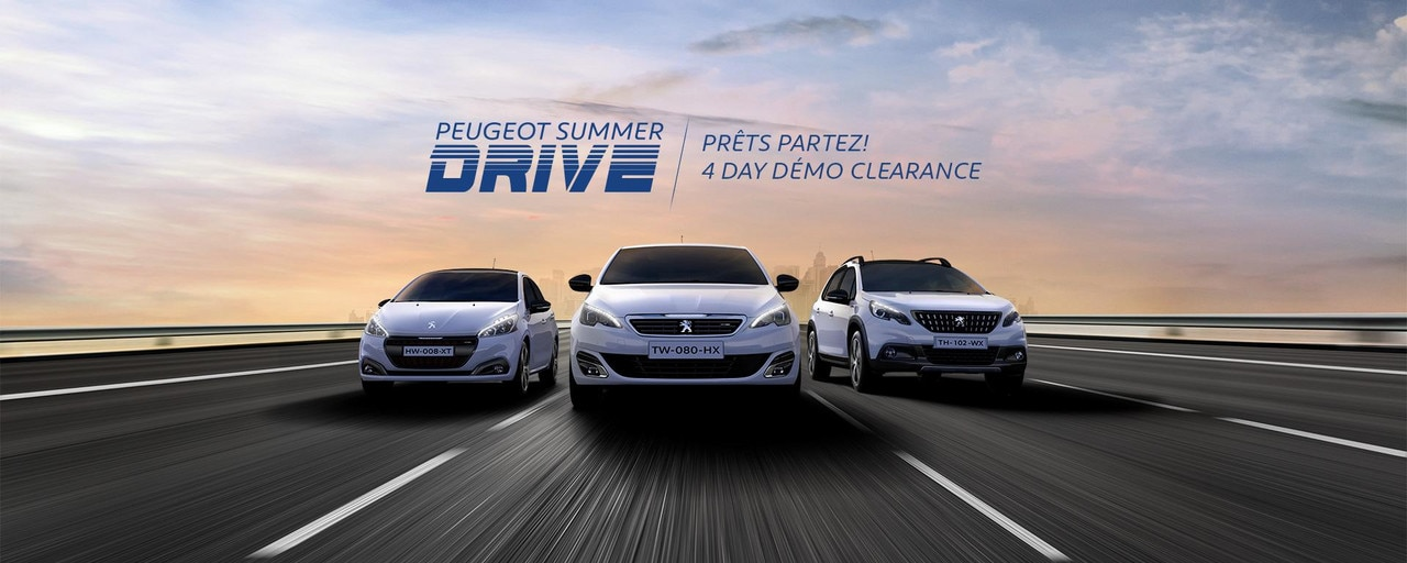 PEUGEOT Summer Drive 4 Day Demo Clearance