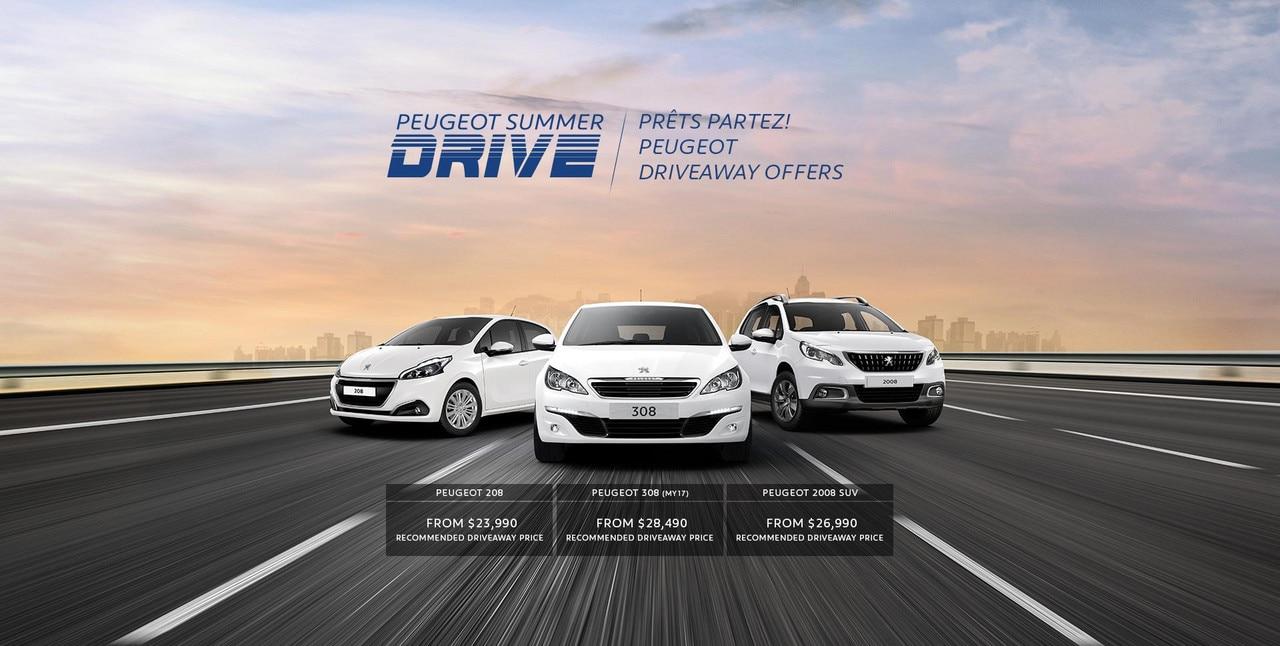 PEUGEOT Summer Drive driveaway offers