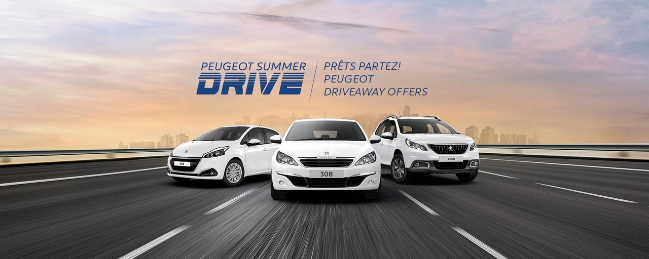 PEUGEOT Summer Drive driveaway offers