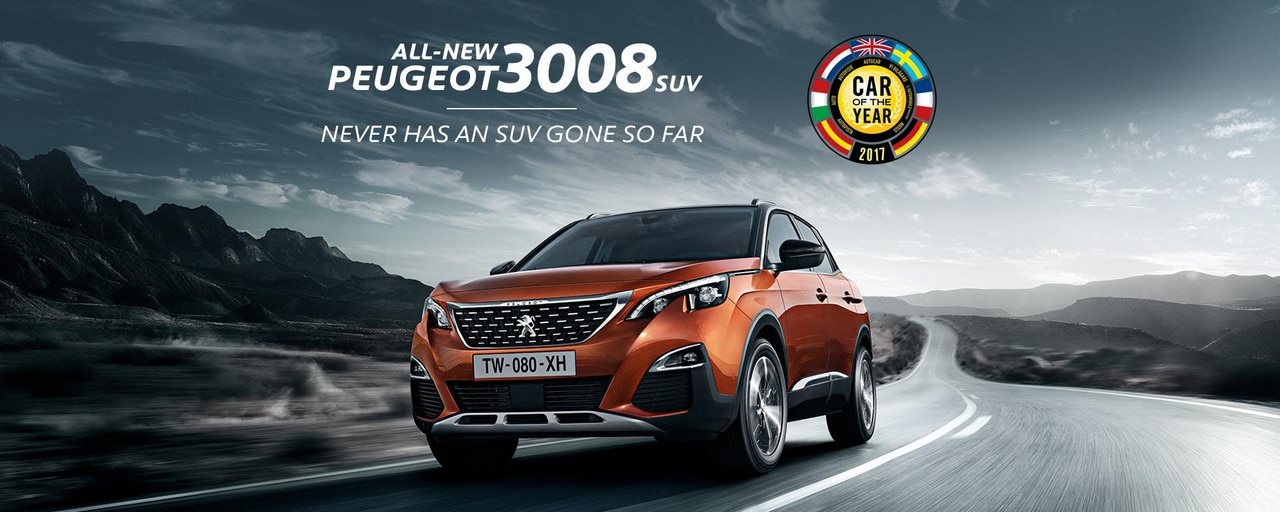 PEUGEOT 3008 SUV. 2017 European Car of the Year