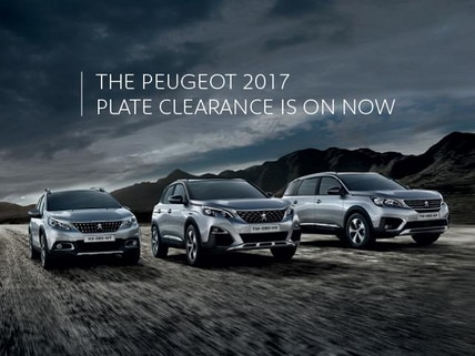 PEUGEOT 2017 Plate Clearance